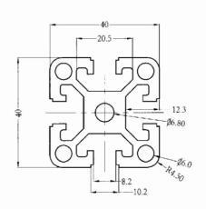 4040D工业铝型材