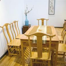 美时美器 竹家具高档创意家居复古餐桌6262