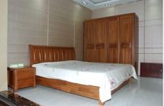 大庆实木家具 床 衣柜