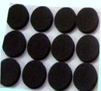 圆形黑色海绵贴
