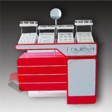 化妝品紅色展示臺 高檔中纖板護膚產品體驗