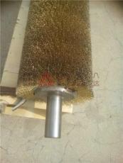 鋼板拋光鋼絲刷鋼絲輥 黃鋼絲毛刷輥