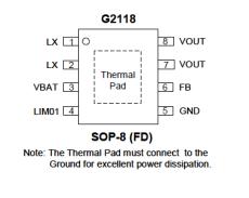 臺灣致新強勢推出5V/3A 同步升壓IC--G2118