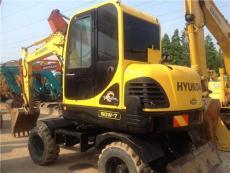 二手現代60W-7輪式挖掘機