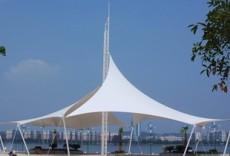 贵州张拉膜造型 标志性建筑 桅杆膜结构