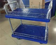 300公斤蓝色塑胶板静音双层手推车